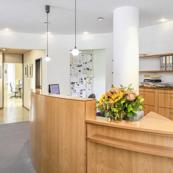 Empfang der Frauenarztpraxis in Winterthur